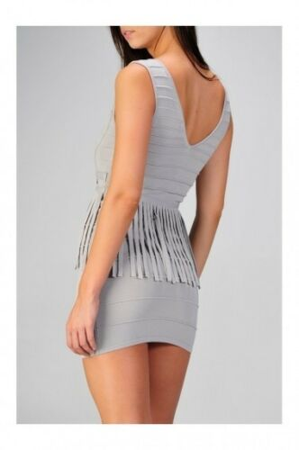 PEPLUM FRINGE BANDAGE DRESS