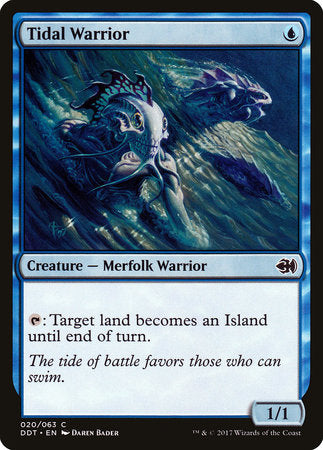 Tidal Warrior [Duel Decks: Merfolk vs. Goblins] | Vault TCG Singles
