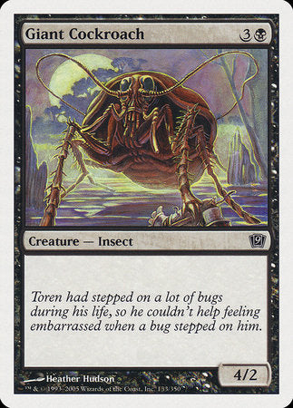 Giant Cockroach [Ninth Edition] | Vault TCG Singles