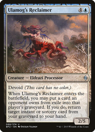 Ulamog's Reclaimer [Battle for Zendikar] | Vault TCG Singles