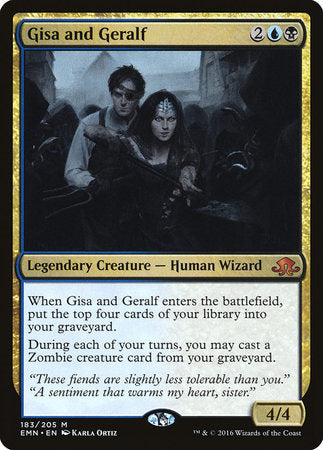 Gisa and Geralf [Eldritch Moon] | Vault TCG Singles