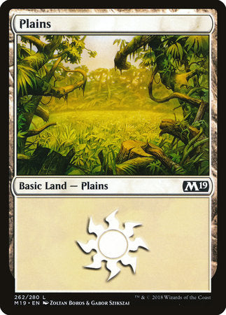 Plains (262) [Core Set 2019] | Vault TCG Singles