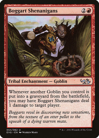 Boggart Shenanigans [Duel Decks Anthology: Elves vs. Goblins] | Vault TCG Singles