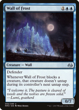 Wall of Frost [Modern Masters 2017] | Vault TCG Singles