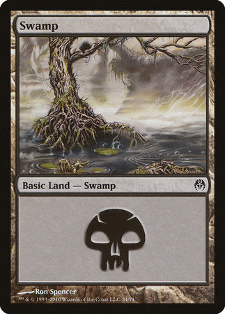 Swamp (34) [Duel Decks: Phyrexia vs. the Coalition] | Vault TCG Singles