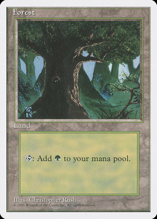 Forest (C) [Fourth Edition] | Vault TCG Singles