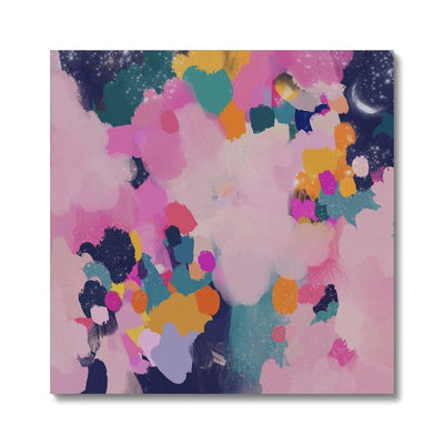 Pink Starry Night Canvas - Urvashi Art Studio