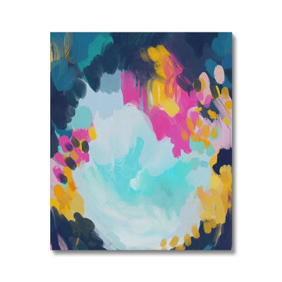 Blooming in storm Canvas - Urvashi Art Studio