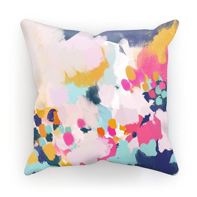 Misty Blooms Cushion - Urvashi Art Studio