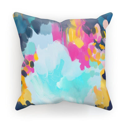 Blooming in storm Cushion - Urvashi Art Studio