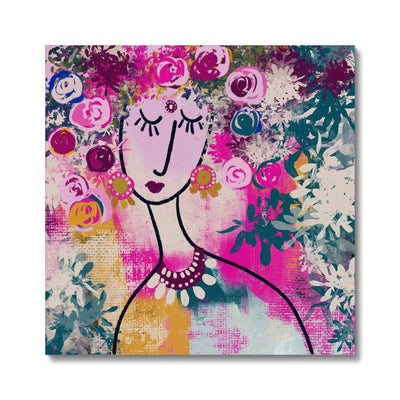 I am blooming Canvas - Urvashi Art Studio