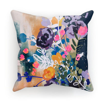Midnight flora Cushion - Urvashi Art Studio