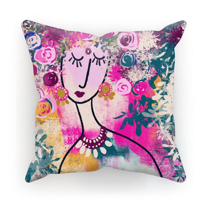 I am blooming Cushion - Urvashi Art Studio