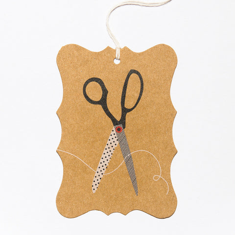 Craft Scissors Gift Tag