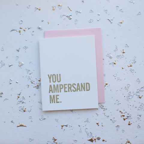 You Ampersand Me card