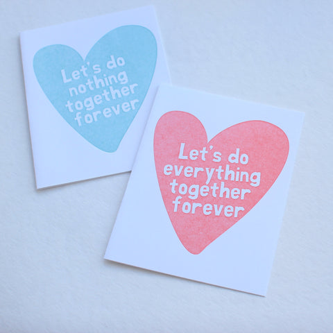 Let's Do Everything Together card