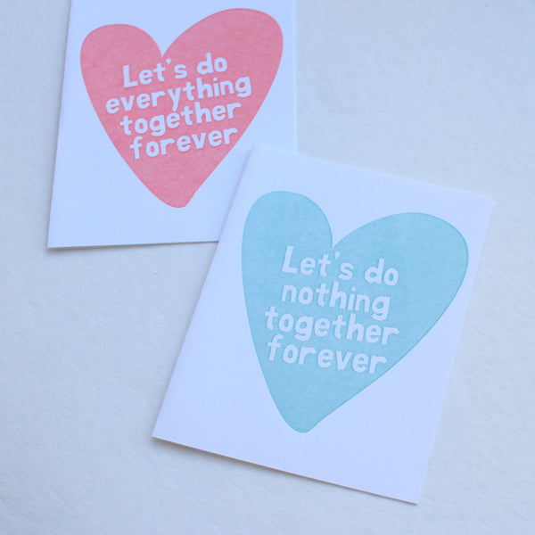 Let's Do Nothing Together card