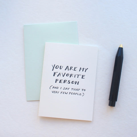 My Favorite Person card
