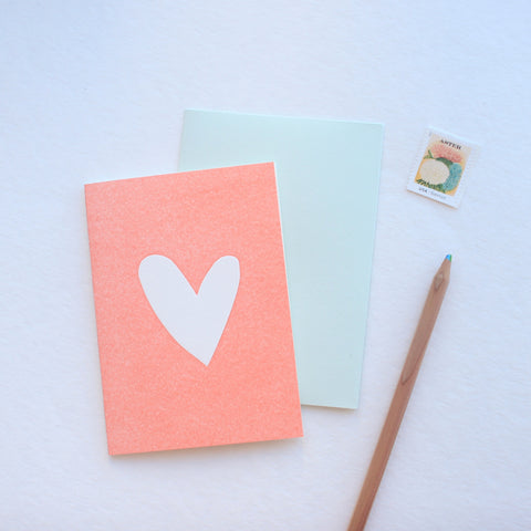 Single Heart card