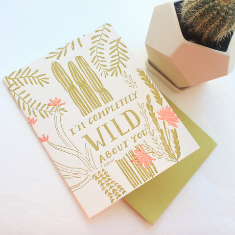I'm Completely Wild About You card
