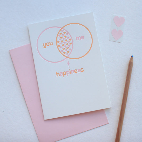 You and Me Venn Diagram card