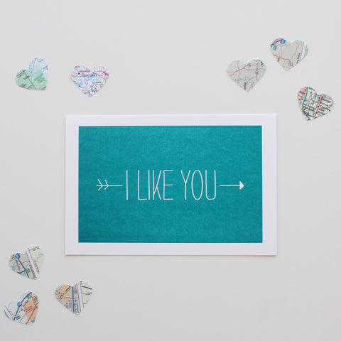 I Like You postcard