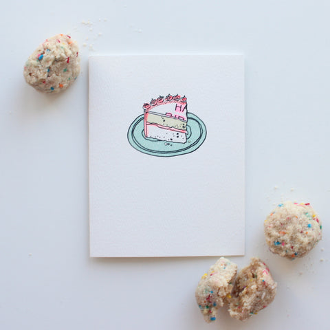 Slice of Birthday Cake card