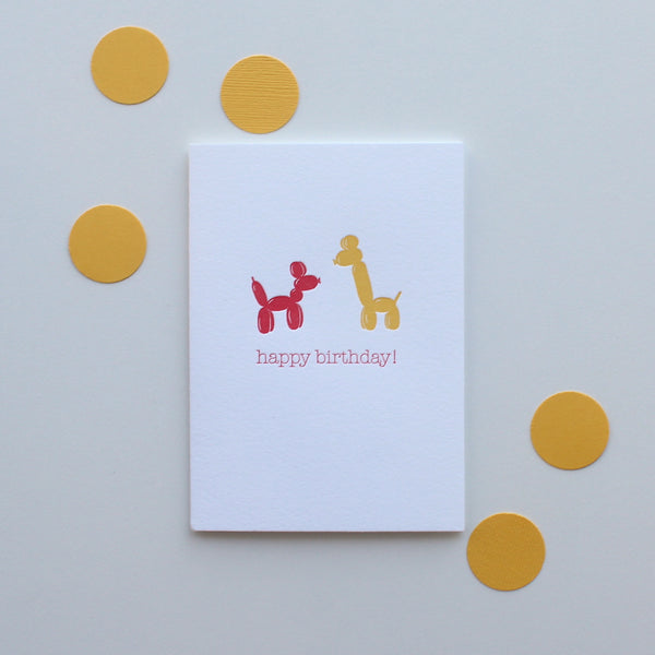 Animal Birthday Balloons card