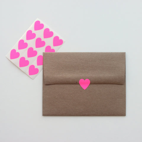 Neon Pink Heart stickers