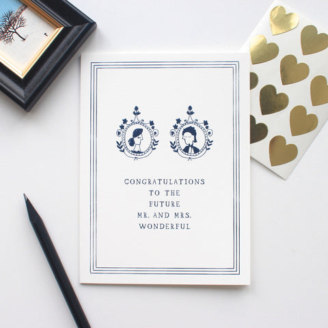 The Future Mr & Mrs Wonderful card