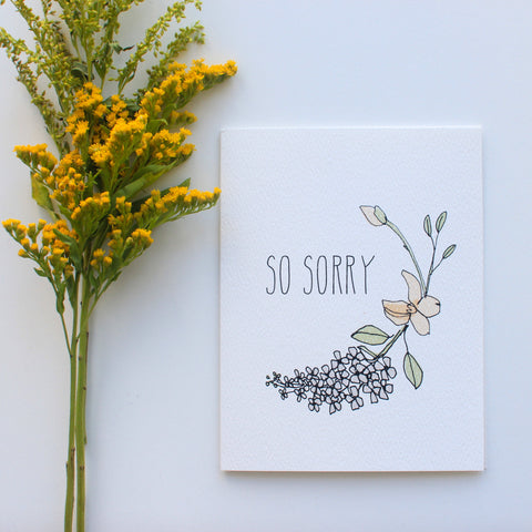 Lilacs So Sorry card