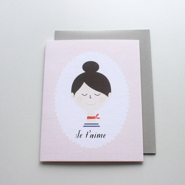 Je T'aime French Girl card