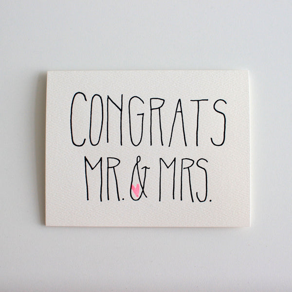 Congrats Mr & Mrs card