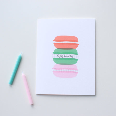 Birthday Macarons card