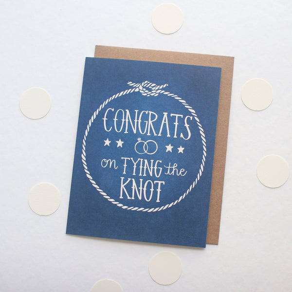 Congrats on Tying the Knot card