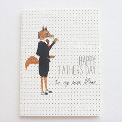 Happy Father's Day Mr Fox card