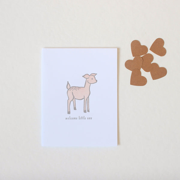 Deer Welcome Little One card
