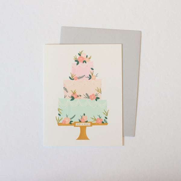 Mr & Mrs Wedding Cake card