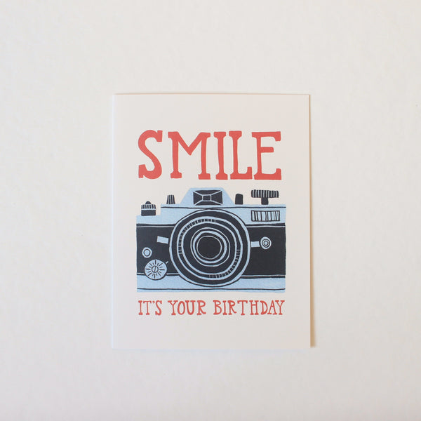 Smile It's Your Birthday Camera card