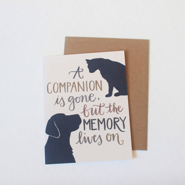 A Companion is Lost card