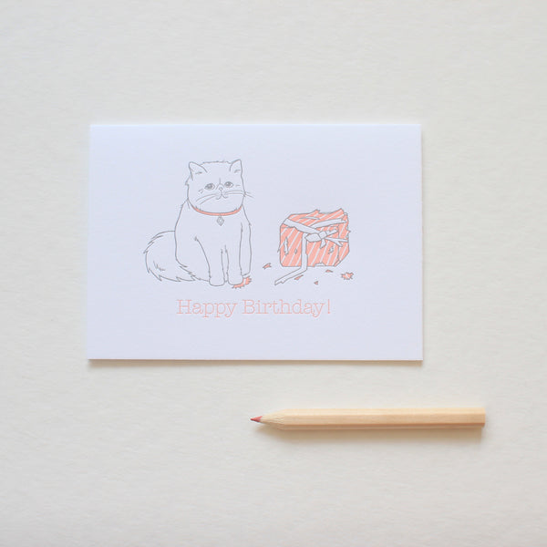 Persian Cat Birthday card
