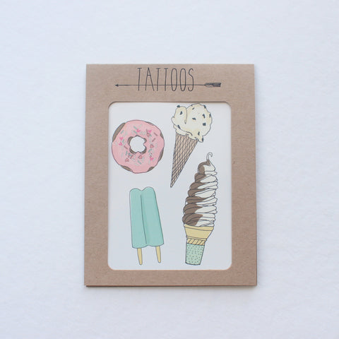 Sweet Treats Temporary Tattoos