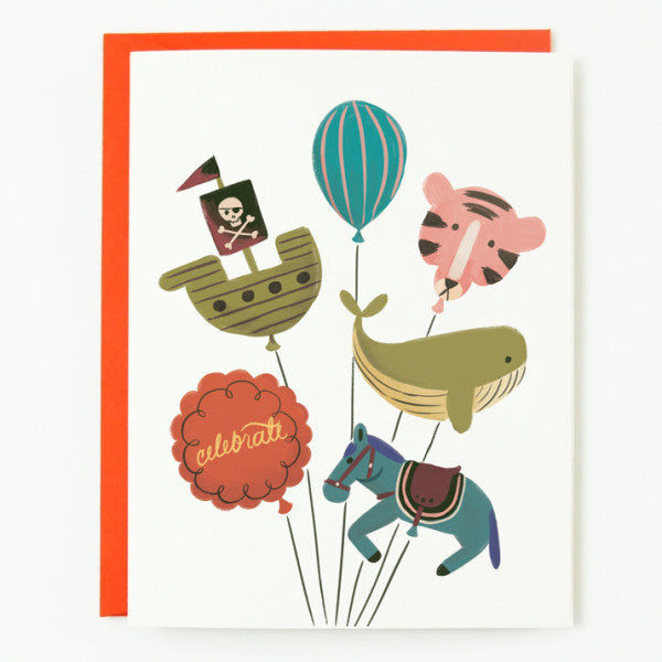 Animal Balloons card