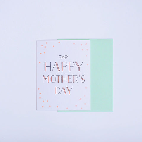 Happy Mother's Day Bow card