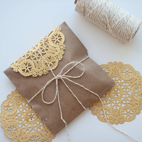 Metallic Gold doilies