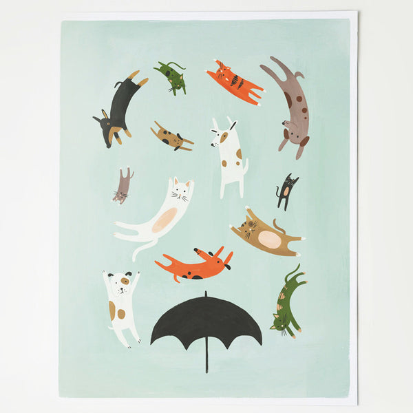 It's Raining Cats & Dogs Art Print