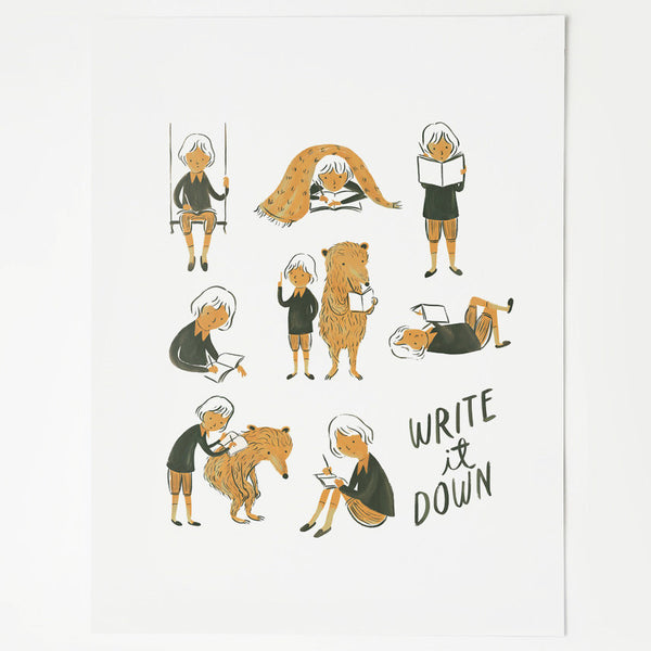 Write it Down Art Print