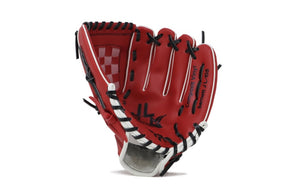 "JL-105-baseball glove, outfiled, REG size 10.5"" red"