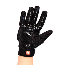 Load image into Gallery viewer, FKG-02 fit football gloves for linebackers, LB, RB, TE black