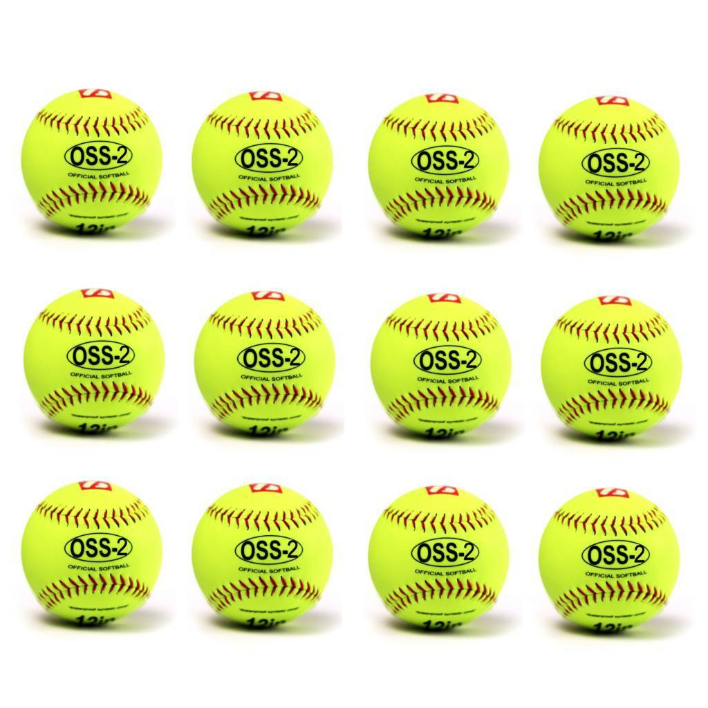 OSS-2 Practice softball ball, soft touch, size 12